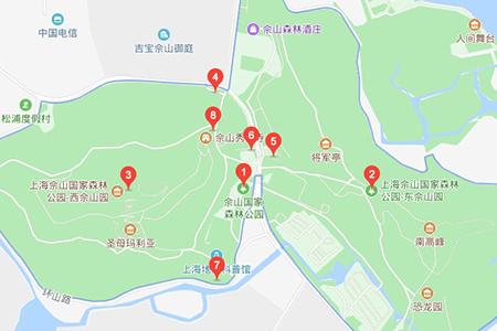 上海佘山国家森林公园地图